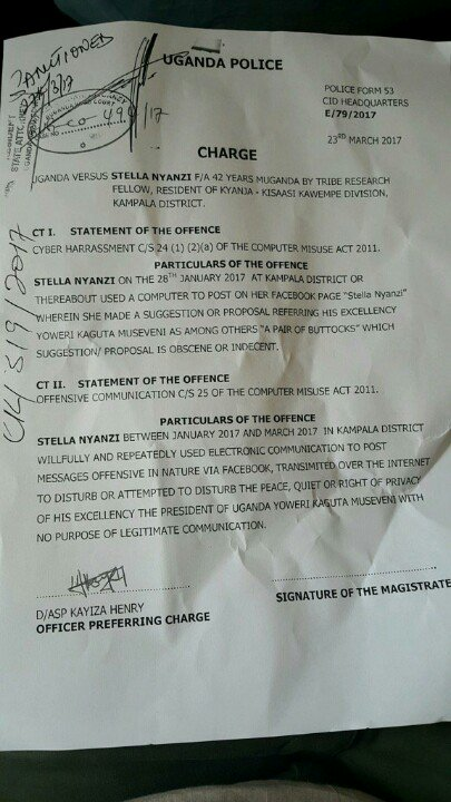 The Charge sheet