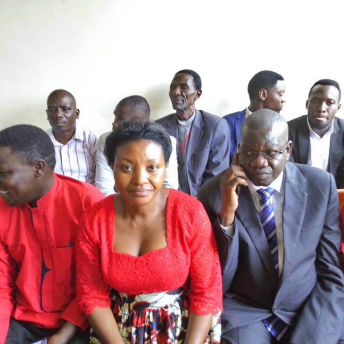 Amuriat and leader of opposition in parliament Winnie Kiiza. Courtesy Photo