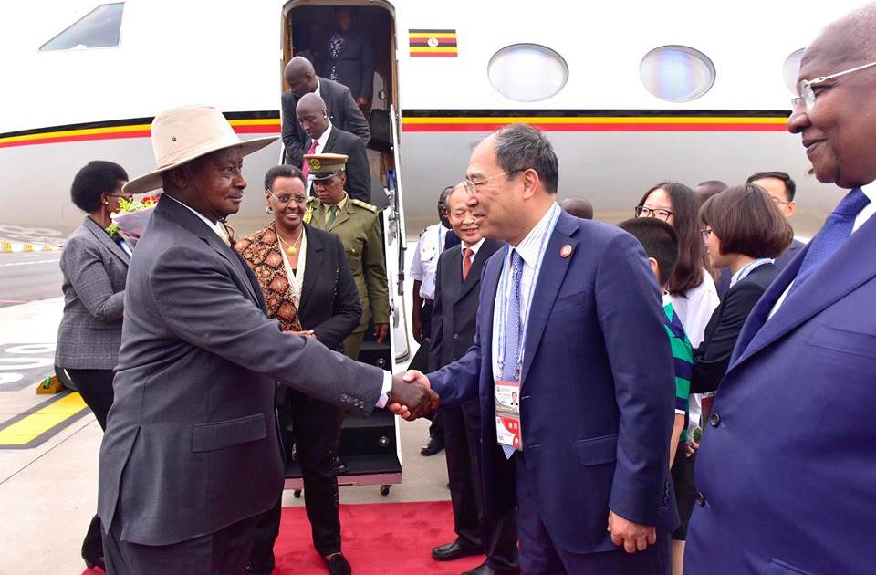 Image result for museveni + china