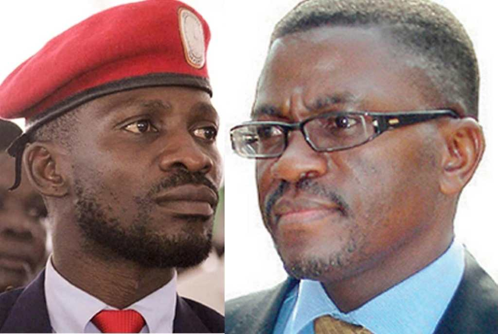 Bobi Wine and Katikkiro Charles Peter Mayiga