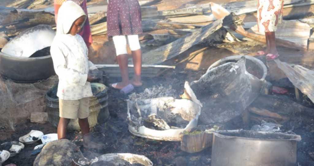 Fire guts Ntungamo market. Courtesy Photo
