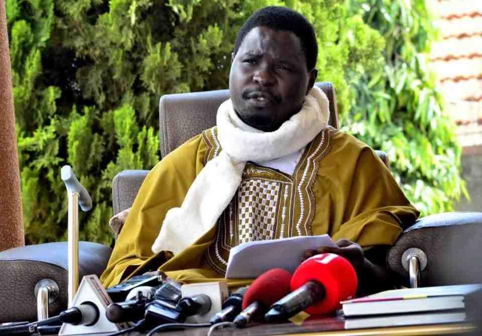 Francis Zaake Butebi talks to reporters. Courtesy Photo