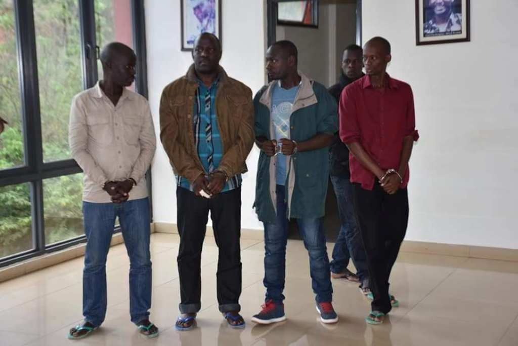 Gun wielding men who brutalized Yusuf Kawooya charged in army court, detained at Makindye. Courtesy Photo