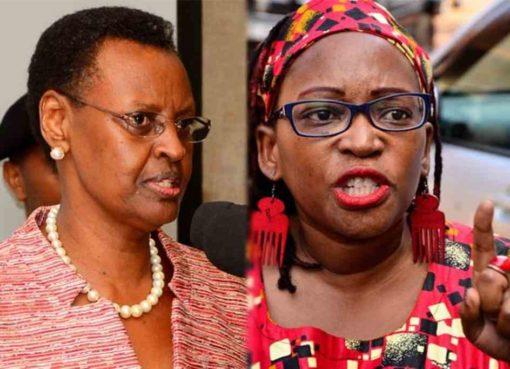 Janet Museveni and Stella Nyanzi