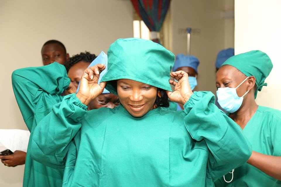 Jennifer Musisi at Kawaala health centre