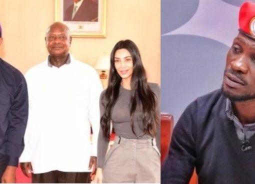 Kanye West, Museveni, Kim Kardashian, and Bobi Wine