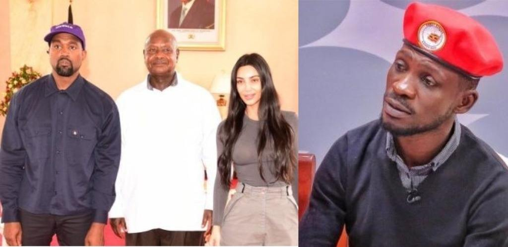 Kanye West, Museveni, Kim Kardashian, and Bobi Wine