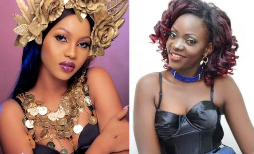 Ugandan singer Spice Diana and a Spark TV Live Wire presenter