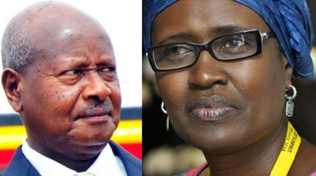 Museveni and Winnie Byanyima