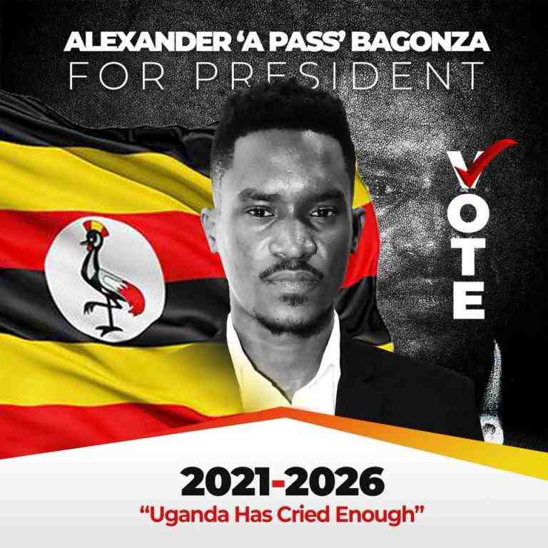 Singer Alexander Bagonza aka A Pass says he will stand for president in 2021