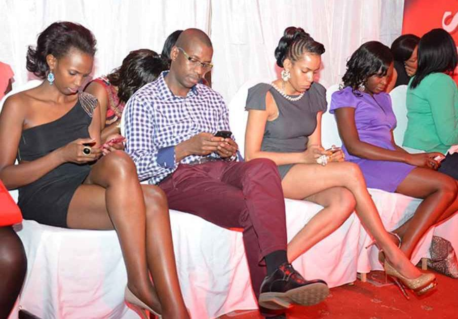 Social media users busy online. Courtesy Photo