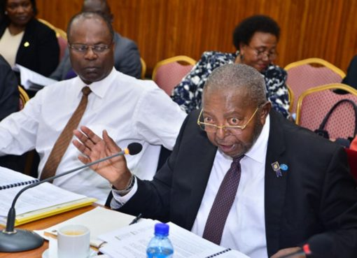 Bank of Uganda Governor Emmanuel Tumusiime Mutebile and his deputy Louis Kasekende. Photo by Alex Esagala