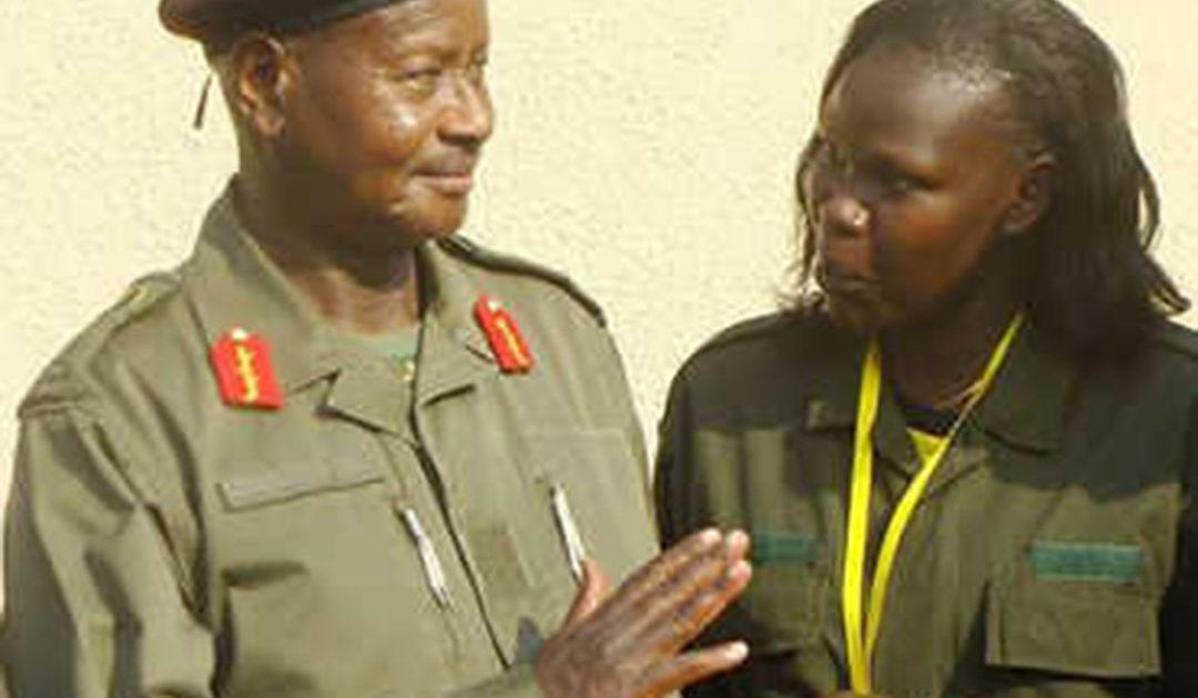 President Museveni and minister Anite. Courtesy Photo