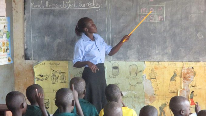 A teacher in a classroom. Courtesy Photo