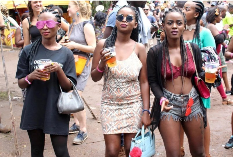Some revelers at a previous Nyege Nyege Festival. Courtesy Photo