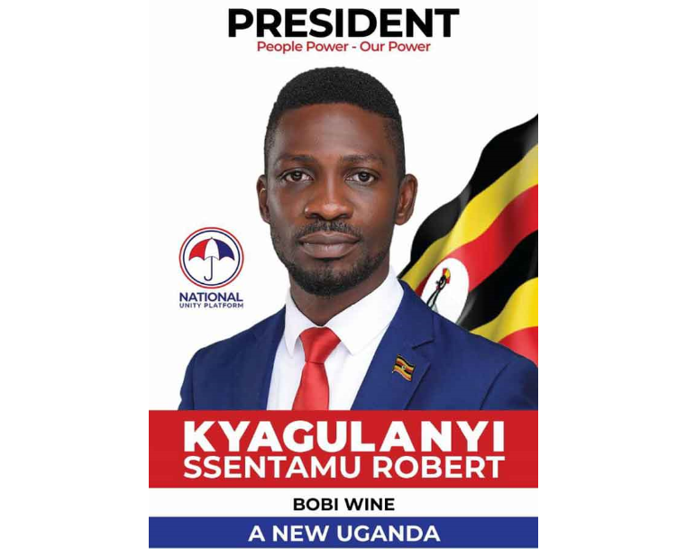 PRESSURE: NUP Launches New Bobi Wine Campaign Poster Without Red Beret -  TowerPostNews